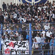 Besiktas's supporters during their Turkish superleague soccer derby match Fenerbahce between Besiktas at Sukru Saracaoglu stadium in Istanbul Turkey on Sunday 18 April 2010. Photo by TURKPIX