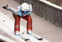 February 7, 2019 - Ljubno, Savinjska, Slovenia - Logan Sankey of United States of America competes on qualification day of the FIS Ski Jumping World Cup Ladies Ljubno on February 7, 2019 in Ljubno, Slovenia. (Credit Image: © Rok Rakun/Pacific Press via ZUMA Wire)