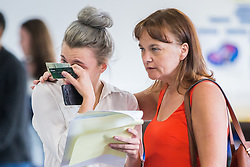 © Licensed to London News Pictures . 18/08/2016 . Wigan , UK . Students at Winstanley College in Wigan collect their A-Level results . Photo credit: Joel Goodman/LNP