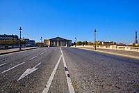 France, Paris (75), le Palais Bourbon, siège de l'Assemblée Nationale durant le confinement du Covid 19 // France, Paris, the Palais Bourbon, seat of the National Assembly during the confinement of Covid 19