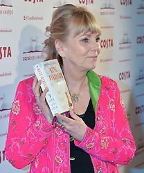 Writer KATE ATKINSON winner of the Costa Novel Award at the Costa Book Awards 2013 held at Quaglino's, 16 Bury Street, London on 28th January 2014.