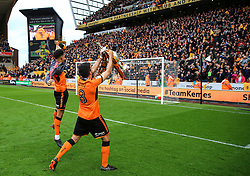 Free to use courtesy of Sky Bet - Ruben Neves of Wolverhampton Wanderers celebrates after lifting the Sky Bet Championship 2017/18 league trophy - Mandatory by-line: Matt McNulty/JMP - 28/04/2018 - FOOTBALL - Molineux - Wolverhampton, England - Wolverhampton Wanderers v Sheffield Wednesday - Sky Bet Championship