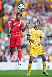 15.08.2010, Anfield, Liverpool, ENG, PL, FC Liverpool vs FC Arsenal, im Bild Liverpool's Glen Johnson in action against Arsenal during the Premiership match at Anfield. l. EXPA Pictures © 2010, PhotoCredit: EXPA/ Propaganda/ David Rawcliffe / SPORTIDA PHOTO AGENCY