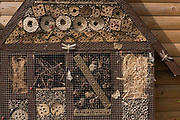 Insect House, Home Made, Monkton Nature Reserve, Kent UK, Thanet Countryside Trust