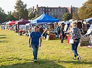 People at Glemham Hall, Suffolk, England, UK Grand Brocante vintage antique event September 2019