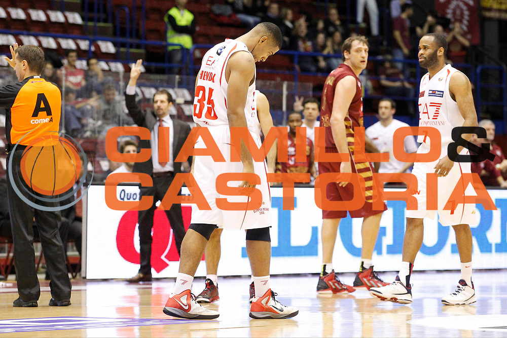 DESCRIZIONE : Milano Lega A 2012-13 EA7 Emporio Armani Milano Umana Venezia<br /> GIOCATORE : Richard Hendrix<br /> CATEGORIA : Ritratto Delusione<br /> SQUADRA : EA7 Emporio Armani Milano<br /> EVENTO : Campionato Lega A 2012-2013<br /> GARA : EA7 Emporio Armani Milano Umana Venezia<br /> DATA : 11/11/2012<br /> SPORT : Pallacanestro <br /> AUTORE : Agenzia Ciamillo-Castoria/G.Cottini<br /> Galleria : Lega Basket A 2012-2013  <br /> Fotonotizia : Milano Lega A 2012-13 EA7 Emporio Armani Milano Umana Venezia<br /> Predefinita :