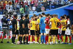 July 14, 2018 - Saint Petersbourg, Russie - SAINT PETERSBURG, RUSSIA - JULY 14 : celebration of the players during the FIFA 2018 World Cup Russia Play-off for third place match between Belgium and England at the Saint Petersburg Stadium on July 14, 2018 in Saint Petersburg, Russia, 14/07/18 (Credit Image: © Panoramic via ZUMA Press)