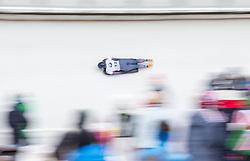 20.02.2016, Olympiaeisbahn Igls, Innsbruck, AUT, FIBT WM, Bob und Skeleton, Damen, Skeleton, 3. Lauf, im Bild Kendall Wesenberg (USA) // Kendall Wesenberg of the USA competes during women Skeleton 3rd run of FIBT Bobsleigh and Skeleton World Championships at the Olympiaeisbahn Igls in Innsbruck, Austria on 2016/02/20. EXPA Pictures © 2016, PhotoCredit: EXPA/ Johann Groder