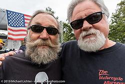 Micah McCloskey and Steve Schapiro at the Born Free Motorcycle Show (BF11) at Oak Canyon Ranch, Silverado  CA, USA. Saturday, June 22, 2019. Photography ©2019 Michael Lichter.