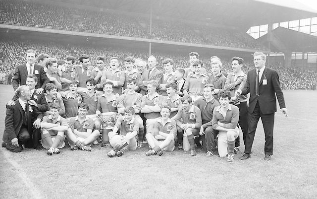 Group photograph of winning Mayo team at the All Ireland Minor Gaelic Football Final Mayo v. Down in Croke Park on the 25th September 1966.