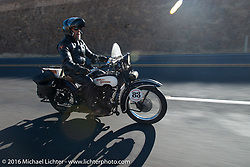 Paul Ousey on his 1925 Harley-Davidson JE during Stage 15 (244 miles) of the Motorcycle Cannonball Cross-Country Endurance Run, which on this day ran from Lewiston, Idaho to Yakima, WA, USA. Saturday, September 20, 2014.  Photography ©2014 Michael Lichter.