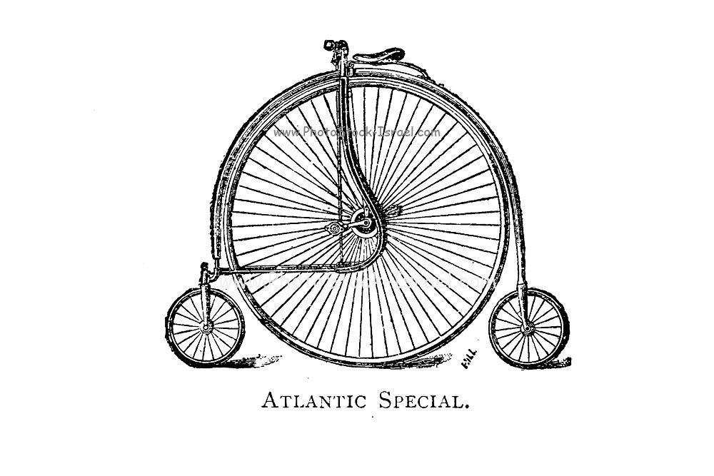 Atlantic Special High wheel bicycle From Wheels and Wheeling; An indispensable handbook for cyclists, with over two hundred illustrations by Porter, Luther Henry. Published in Boston in 1892