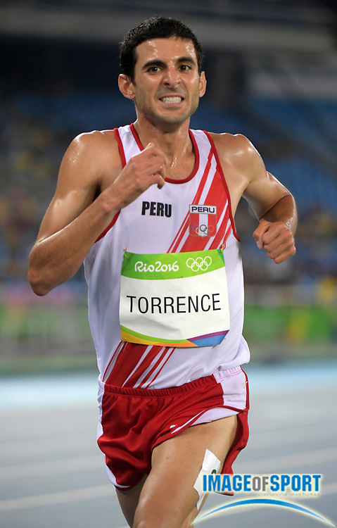 Aug 20, 2016; Rio de Janeiro, Brazil; David Torrence (PER) places 15th in the 5,000m in 13:43.12 during the 2016 Rio Olympics at Estadio Olimpico Joao Havelange. <br /> <br /> *