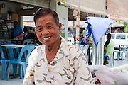 An elderly man in Nabalu market, Sabah