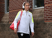 CHATTANOOGA, TN - AUGUST 19:  Forward Alex Morgan #13 of the United States walks to the locker room before the friendly match against Costa Rica at Finley Stadium on August 19, 2015 in Chattanooga, Tennessee.  (Photo by Mike Zarrilli/Getty Images) *** Local Caption *** Alex Morgan
