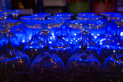 """The lights at the bar can be switched through a variety of colors. Photos at Cunetto's House of Pasta """"On The Hill"""" in south St. Louis taken on Wednesday April 21, 2021 for the Better Business Bureau (St. Louis) Torchlight quarterly magazine. <br />Photo byTim Vizer"""