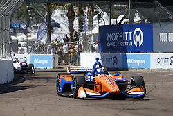 March 11, 2018 - St. Petersburg, Florida, United States of America - March 11, 2018 - St. Petersburg, Florida, USA: Scott Dixon (9) battles for position during the Firestone Grand Prix of St. Petersburg at Streets of St. Petersburg in St. Petersburg, Florida. (Credit Image: © Justin R. Noe Asp Inc/ASP via ZUMA Wire)