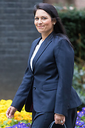Downing Street, London, March 14th 2017. International Development Secretary Priti Patel arrives at Downing Street, London, for the weekly meeting of the UK cabinet, following yesterday's vote in Parliament to allow Prime Minister Theresa May to go ahead with triggering Article 50 beginning the Brexit process of withdrawing from the European Union.