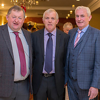 Donal Moloney Chairman, Pat Connellan Commitee member, Michael Sexton Secretary of the Clare Limousine Cattle Breeders Society at the 2017 Limousine Ball held in the Bellbridge Hotel, Spanish Point on Friday evening