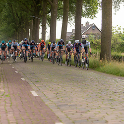VELDHOVEN (NED) July 4 <br /> CYCLING <br /> The first race of the Schwalbe Topcompetition the Simac Omloop der Kempen<br /> Peloton op de kasseien ri Bladel