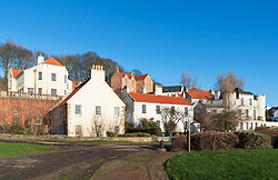 View of historic old original buildings at Coxstool  in West Wemyss in Fife , Scotland UK