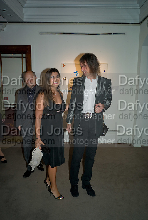 LISA REUBEN; IVOR BRAKA, Damien Hirst party to preview his exhibition at Sotheby's. New Bond St. London. 12 September 2008 *** Local Caption *** -DO NOT ARCHIVE-© Copyright Photograph by Dafydd Jones. 248 Clapham Rd. London SW9 0PZ. Tel 0207 820 0771. www.dafjones.com.