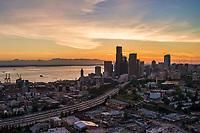 Elliott Bay, Interstate 5 & Downtown Seattle