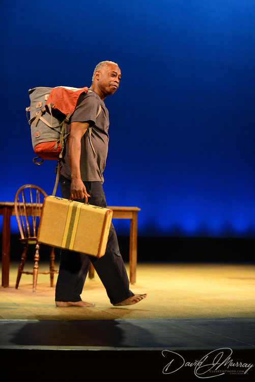 """Carlyle Brown performs his one-man show """"The Fula from America: An African Journey"""" at The Music Hall in Portsmouth, NH, in support of the African Burying Groung Memorial."""