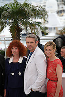 Sabine Azema, Lambert Wilson, Anne Consigny at the Vous N'Avez Encore Rien Vu photocall at the 65th Cannes Film Festival France. Monday 21st May 2012 in Cannes Film Festival, France.