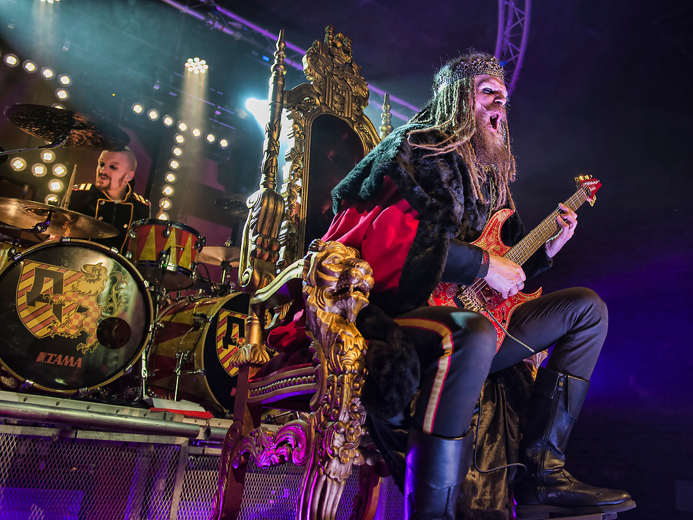 Glasgow, Scotland, UK. 16th January, 2019. German metal band Avatar play to a packed Glasgow venue The Garage,