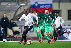 Moussa Dembele of France during football match between Slovenia and France in Qualifying round for European Under-21 Championship 2019, on November 13, 2017 in Sportni park, Domzale, Slovenia. Photo by Morgan Kristan / Sportida