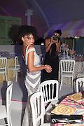 IRINA ALVES; MAYRA FERNANDES, Grey Goose Winter Ball to benefit the Elton John Aids Foundation. Battersea Power Station. London. 10 November 2012.