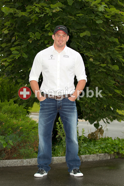 Swiss wrestling star Philipp LAIMBACHER of Switzerland poses for a portrait photo in Siebnen, Switzerland, Friday, May 27, 2011. (Photo by Patrick B. Kraemer / MAGICPBK)