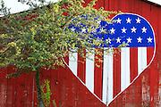 Heart on barn in Washington's Palouse Region.