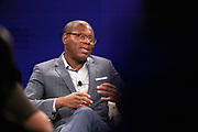 Bright Simons, President, MPedigree, Ghana; Young Global Leader speaking during the session Africa's Innovators of the Year at the World Forum World Economic Forum on Africa 2019. Copyright by World Economic Forum / Greg Beadle