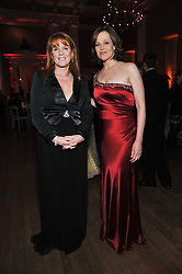 Left to right, SARAH, DUCHESS OF YORK and SIGOURNEY WEAVER at the Royal Rajasthan Gala 2009 benefiting the Indian Head Injury Foundation held at The Banqueting House, Whitehall, London on 9th November 2009.