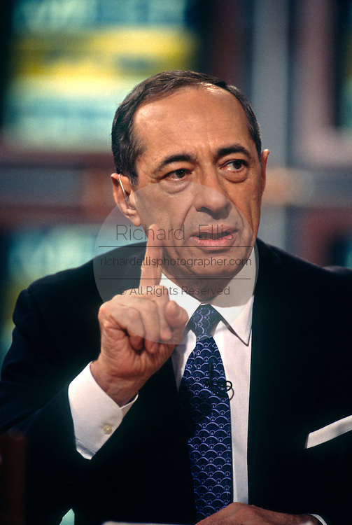 Former Governor of New York Mario Cuomo on NBC's Meet the Press television show June 6, 1997 in Washington, DC.