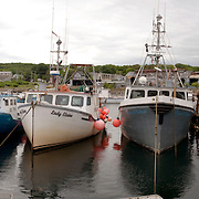 Lobster boats at rest