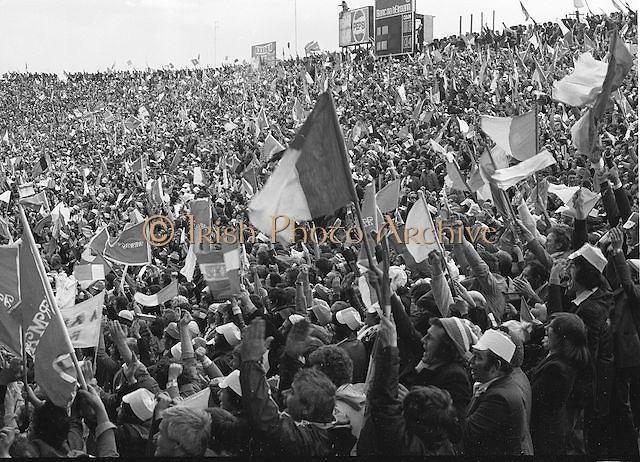 Crowds at the All Ireland Football Final Dublin v Armagh at Croke Park, 25th September 1977.