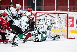 Zan US vs LAVRISA Marcel during Alps League Ice Hockey match between HDD SIJ Jesenice and HK SZ Olimpija on March 2, 2020 in Ice Arena Podmezakla, Jesenice, Slovenia. Photo by Peter Podobnik / Sportida