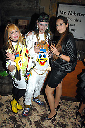 Left to right, MRS LOUISE MAZZILLI, MR ROCKY MAZZILLI  and MISS TATUM MAZZILLI  at the Stephen Webster launch party of his latest jewellery collection during the London Jewellery Week, at Wilton's Music Hall, Graces Alley, Off Ensign Street, London E1 on 12th June 2008.<br /><br />NON EXCLUSIVE - WORLD RIGHTS
