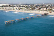 City of Ventura California Aerial Stock Photo Facing North