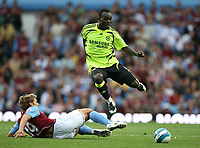 Photo: Rich Eaton.<br /> <br /> Aston Villa v Chelsea. The FA Barclays Premiership. 02/09/2007. Chelsea's Michael Essien leaps over the challenge of Stiliyan Petrov.