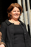 Prinses Maxima woont de uitreiking bij van het beste leerbedrijf 2010 in de Laurentius en Elisabeth kathedraal in Rotterdam.<br /> <br /> Princess Maxima attends the ceremony of the best training company in 2010 in the Lawrence and Elizabeth Cathedral in Rotterdam.<br /> <br /> Op de foto / On the Photo:  <br /> <br /> <br /> <br />   minister OCW Blijstervelt-vliegenthart