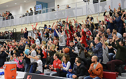 Bristol Flyers fans celebrate - Mandatory byline: Dougie Allward/JMP - 11/12/2015 - Basketball - SGS Wise Campus - Bristol, England - Bristol Flyers v Plymouth Raiders - British Basketball League