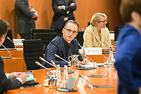 02 SEP 2020, BERLIN/GERMANY:<br /> Heiko Maas, SPD, Bundesaussenminister, vor Beginn einer SItzung des Kabinetts im grossen Sitzungssaal, der aufgrund der Corona-Vorgaben fuer die Kabinettsitzung genutzt wird, Budneskanzleramt<br /> IMAGE: 20200902-01-029<br /> KEYWORDS: Sitzung, Kabinett