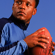 Barry Sanders, considered one of the greatest running backs ever to play in the NFL. Photographed for The Sporting News.