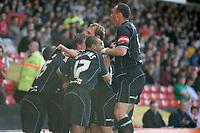 Photo: Pete Lorence.<br />Nottingham Forest v Scunthorpe United. Coca Cola League 1. 07/10/2006.<br />Scunthorpe celebrates Ian Baraclough's goal, taking the team into a 3-0 lead.