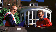 Hammersmith, LONDON, right, Penny Chuter and Mike Spracklen, discuss,  outside the ARA HQ., The Mall, Hammersmith, London W5. UNITED KINGDOM, Photo, Peter Spurrier/Intersport Images..[Mandatory Credit Peter Spurrier/ Intersport Images]