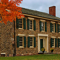 """""""Cobblestone Farm in Beauty""""<br /> <br /> A wonderful image of historic Cobblestone Farm in Ann Arbor Michigan during the fall season with lovely orange Maple trees!!<br /> Beautiful architecture, texture and colors!!<br /> <br /> Architecture, structures, buildings and their details by Rachel Cohen"""